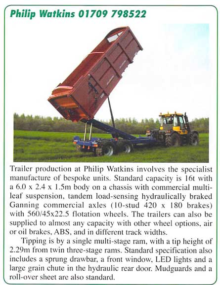 farm contractor magazine on trailers
