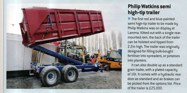 FW article Jan 2013 re hi-tip trailer