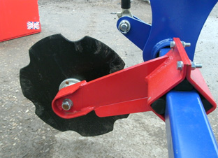 close up of grass subsoiler serrated disc